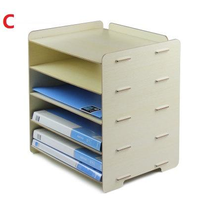 2020 File Holder Office Supplies Desk A4 Paper File Basket Five Layers Storage Rack High Density Fibreboard Black Gray Pink Milky White Pink From