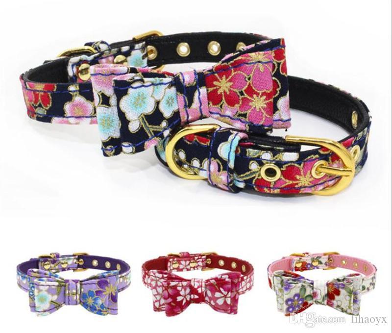 16 stili Pet Dog Collar bello comodo Stampato Guinzaglio alta qualità forte Collari durevoli per le piccole medie cani dc113