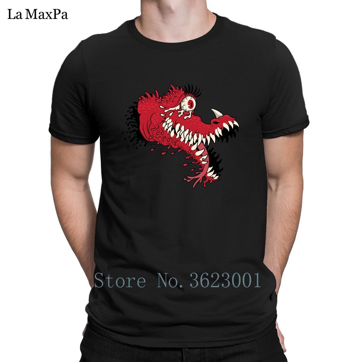 Подгонянная нормальная футболка одежда One Eyed Blood Beast мужская футболка удобная фирменная мужская футболка O-образным вырезом свободная футболка