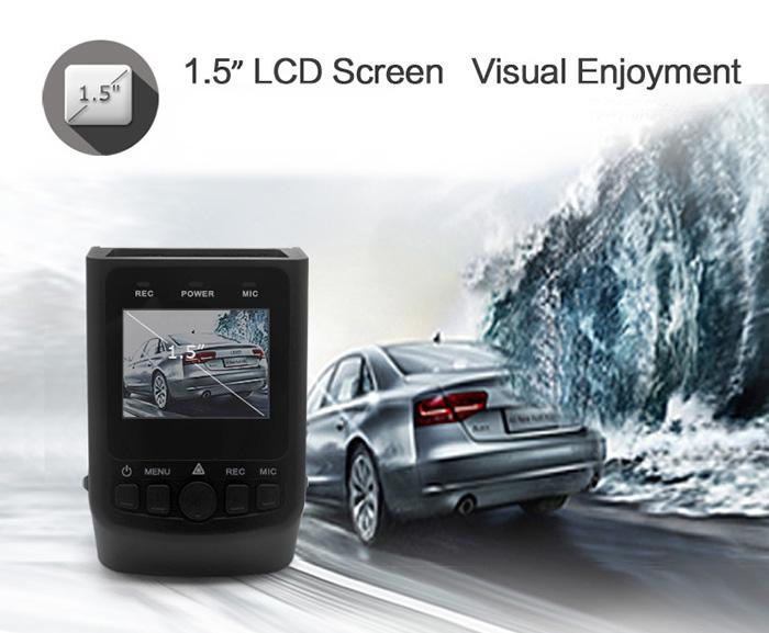 170Degree Wide Angle Lens TFT Screen Safe Capacitor Car DVR Dash Cam Video Recorder Support AV Out Hidden Mode Motion DetectionFree Shipping