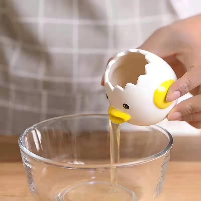 Ceramic Eggs White Separator Ceramic Tool Easy To Clean Cartoon Egg White Egg Separator Home Garden Kitchen Dining