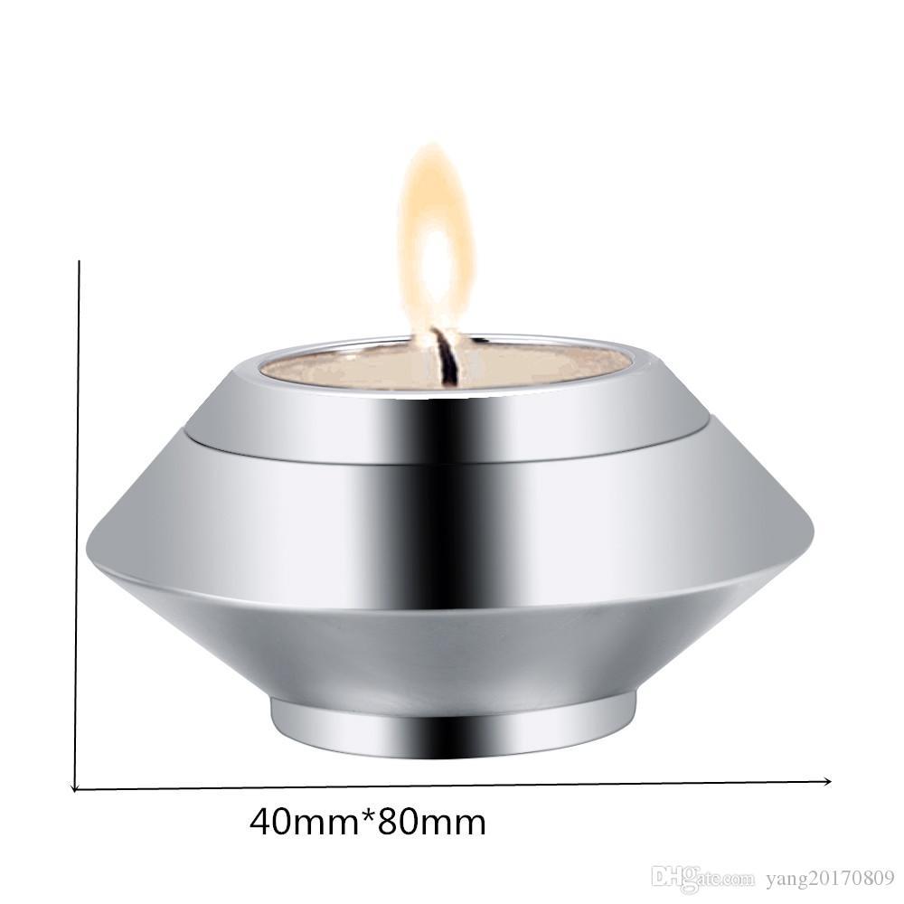 IJU041 Porte-bougie en acier inoxydable 316L hautement poli, cendres et urnes funéraires, urnes de crémation pour animaux de compagnie humains, cendres