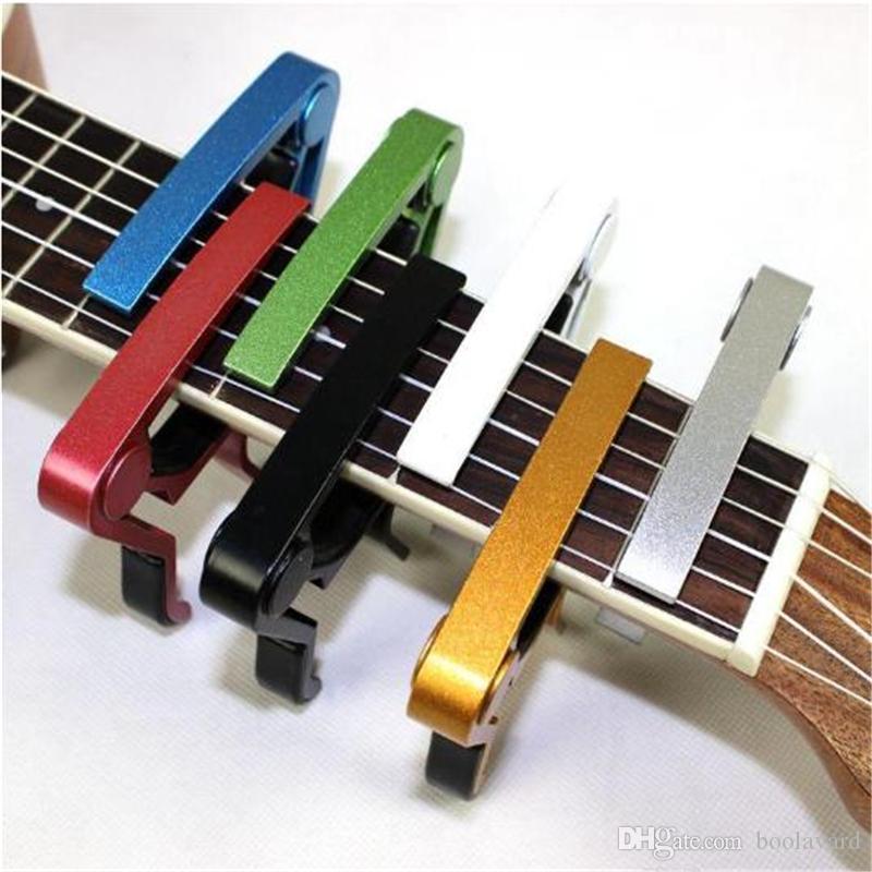 سبيكة الألومنيوم عالية الجودة معدن جديد الغيتار كابو التغيير السريع المشبك مفتاح الصوتية الغيتار الكلاسيكي القيثارة كابو لهجة ضبط 0816ayq