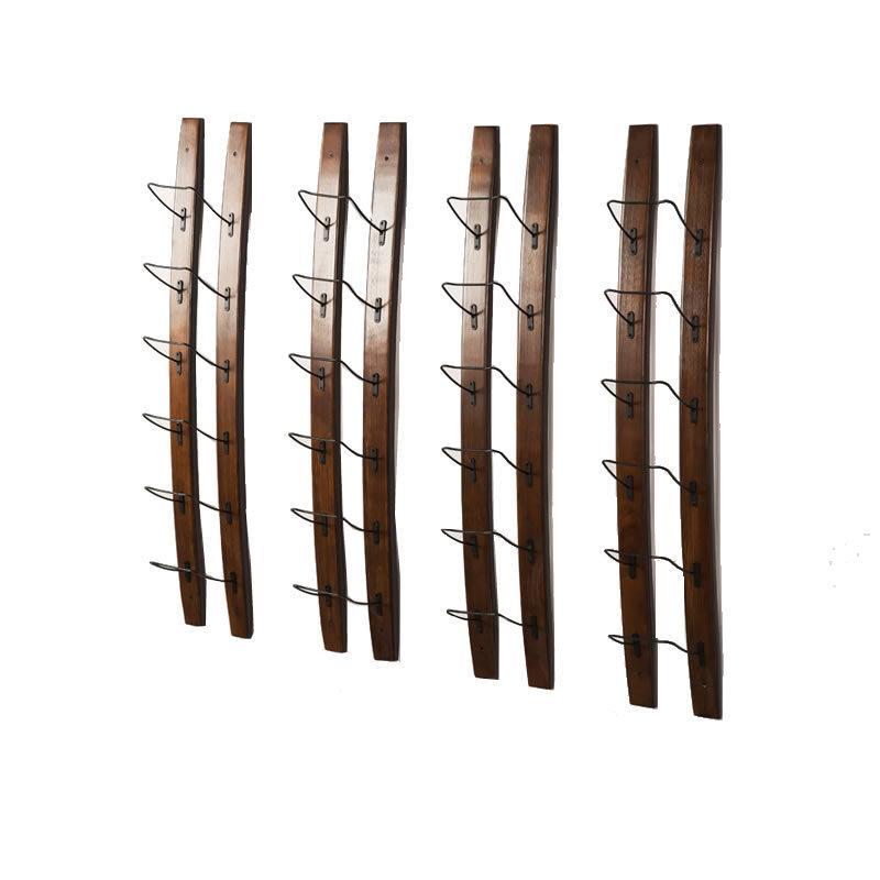 Metallo Legno vino rack con montaggio a parete Whiskey Bottle Holder Mimimalist vetro Organizzatore per Esporre Elegante Decorazione per la Casa