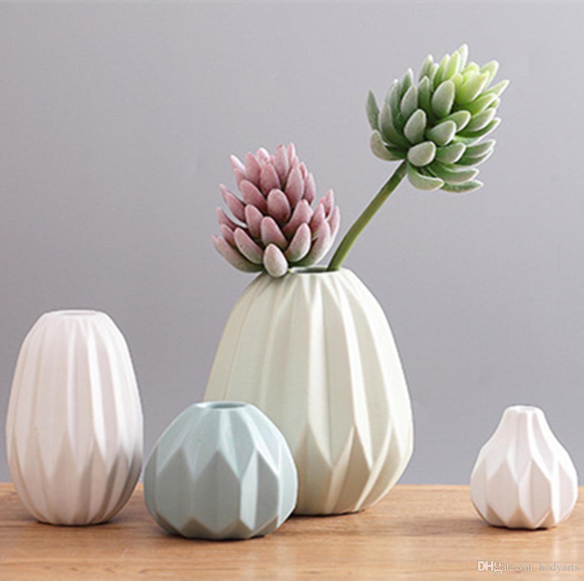 Оптовая новый дизайн и высокое качество китайский фарфор ваза для цветов (1set 4pcs) для украшения дома и офиса