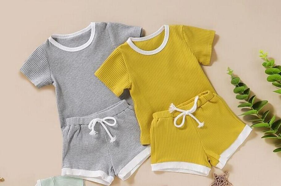 Vêtements pour bébé Stylistes Bébés garçons Fille Vêtements enfants Designer garçons manches courtes 2 costumes de pièce pour les garçons filles en été 2020