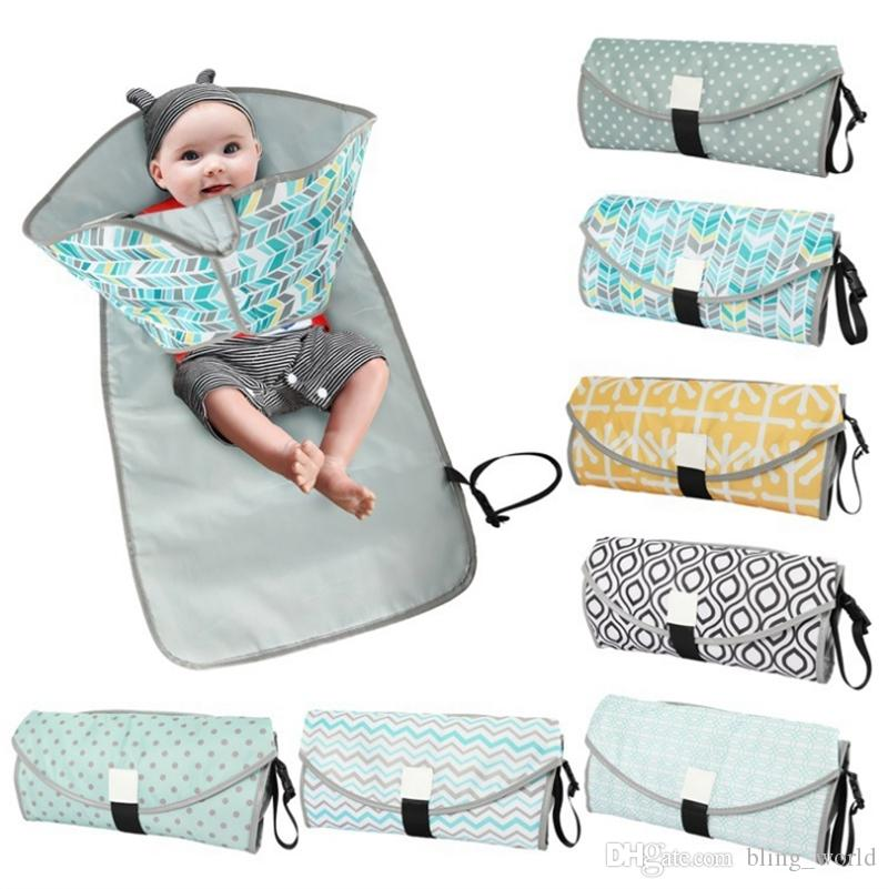 Fashion Portable Folding Diaper Changing Pad Waterproof Baby Travel Nappy Mats