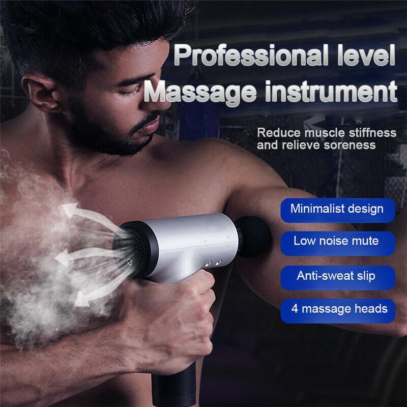 Muscle atualizado Massagem armas Esporte Terapia Massageador Corpo de Relaxamento Alívio da Dor emagrecimento Shaping Massager Heads 4 de massagem