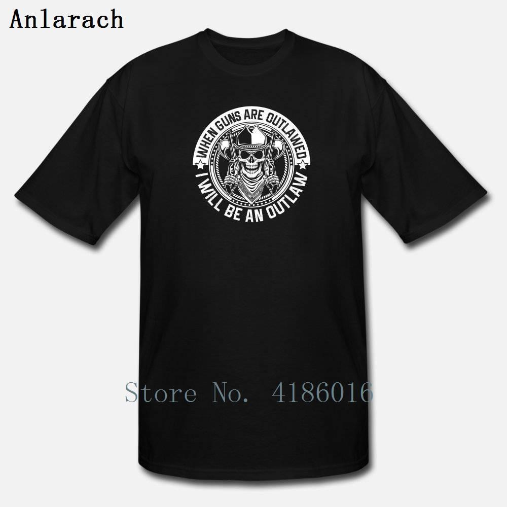 Armas Quando as armas outlawed Ill Be Outlaw camiseta Novo Estilo Verão Estilo gola redonda algodão Personalizar Lazer Outfit shirt