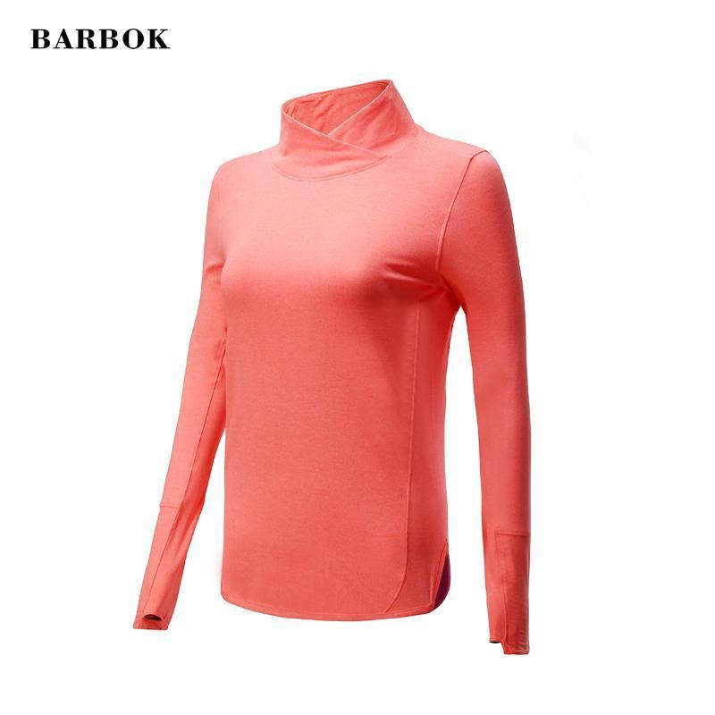 BARBOK Femmes Gym Yoga Yoga Tops Chemises à manches longues Workout Fitness Course à pied Sport T-shirts Vêtements de sport Formation Automne