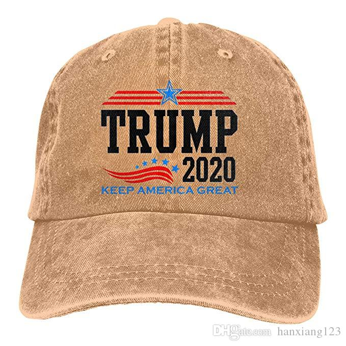 HX 2019 New Cheap Baseball Caps Keep America Great President Trump for 2020 Mens Cotton Adjustable Washed Twill Baseball Cap Hat