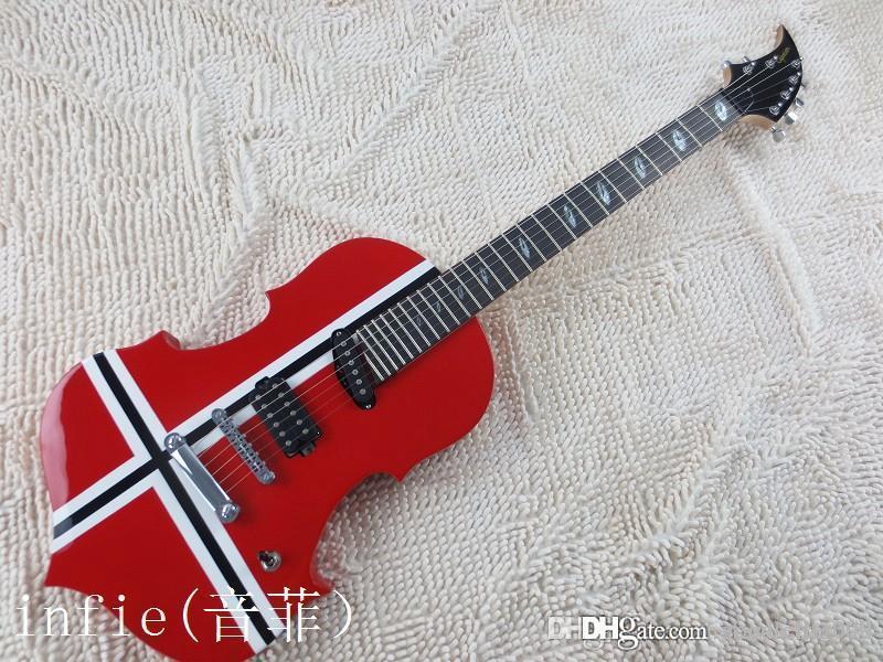무료 배송 전기 기타 바이올린 모양 모델은 요구 사항 기타 변경에 따라 사용자 정의 할 수 있습니다