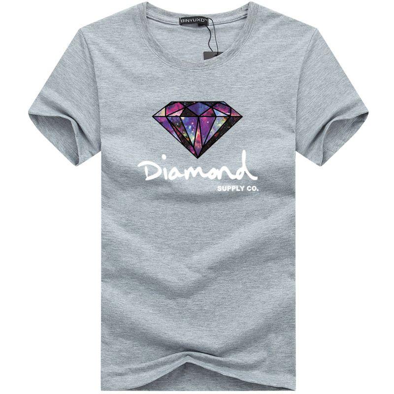 Diamond Supply Co Печатная Мужская Футболка Новая Летняя Мужская Футболка Harajuku Повседневная Хип-Хоп Хлопок Тройники