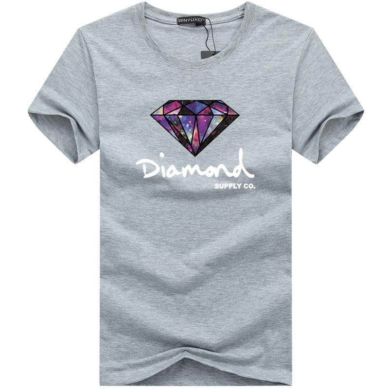 T-shirt uomo stampata Diamond Supply Co T-shirt uomo estiva nuova Harajuku T-shirt casual in cotone Hip Hop