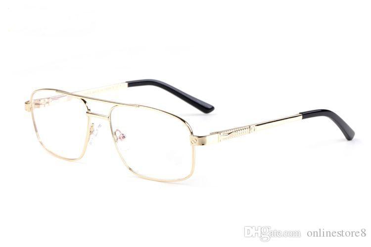 حار باريس الفاخرة بافالو القرن نظارات قصر النظر إطارات النظارات البصرية الرجال سبيكة معدنية النظارات إطار واضح عدسة نظارة مع مربع حالة