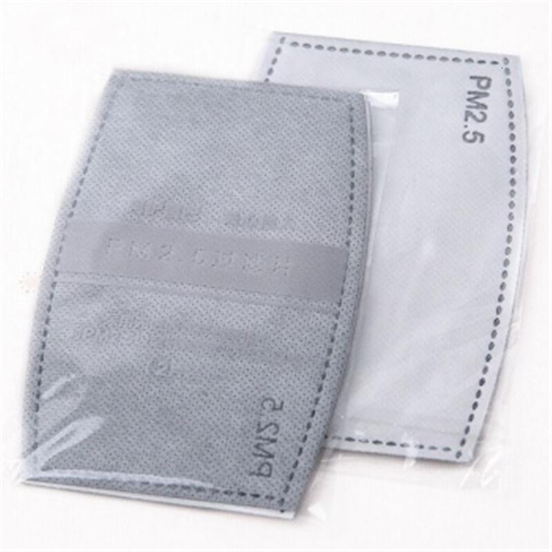Sólo DHL libre envía! Mascarillas placas intercaladas Pm 2.mask PM2.5 filtro de carbón activo 5 a prueba de polvo Core máscara de reemplazo