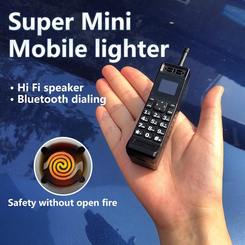 Klassischer Stil Super Mini Elektronischer Feuerzeug Mobiltelefon Nostalgische Bluetooth-synchrone Single SIM-Karte Vintage winziger Finger MP3 Cellphon