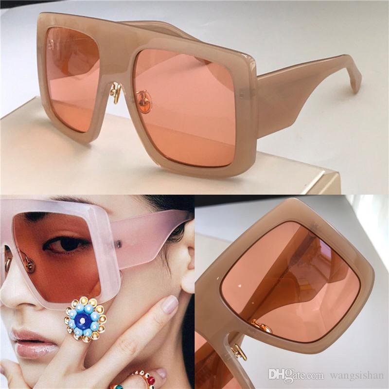 nouveau style d'avant-garde des lunettes de protection de qualité supérieure grande des femmes de la mode PUISSANCE cadre carré Lunettes uv populaire CATWAIK