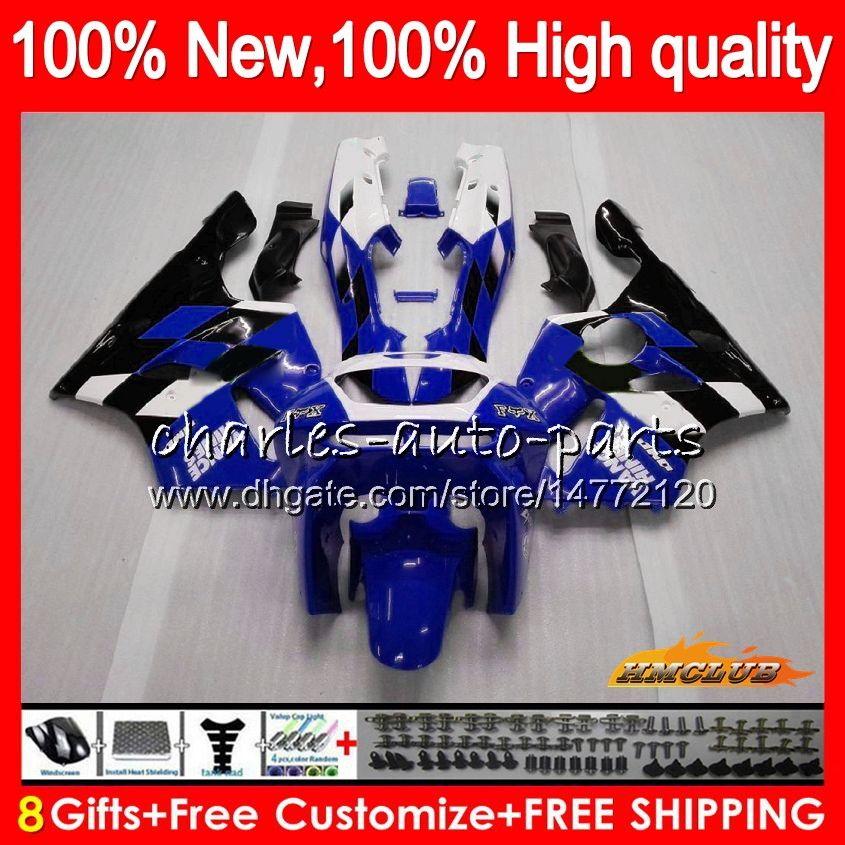 Body For KAWASAKI ZX 636 600CC blue black ZX-636 ZX6R 94 95 96 97 50HC.22 ZX636 ZX-6R ZX600 ZX 6 R 6R 1994 1995 1996 1997 Full Fairing kit