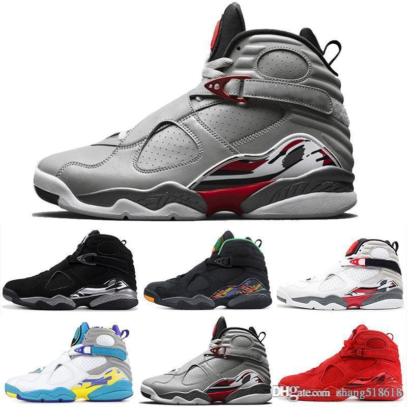 2019 8 8s Men Basketball Shoes Valentines Day Aqua White Black Chrome Countdown Pack 3 PEAT VIII Mens Trainers Sports Sneaker size US7-US13