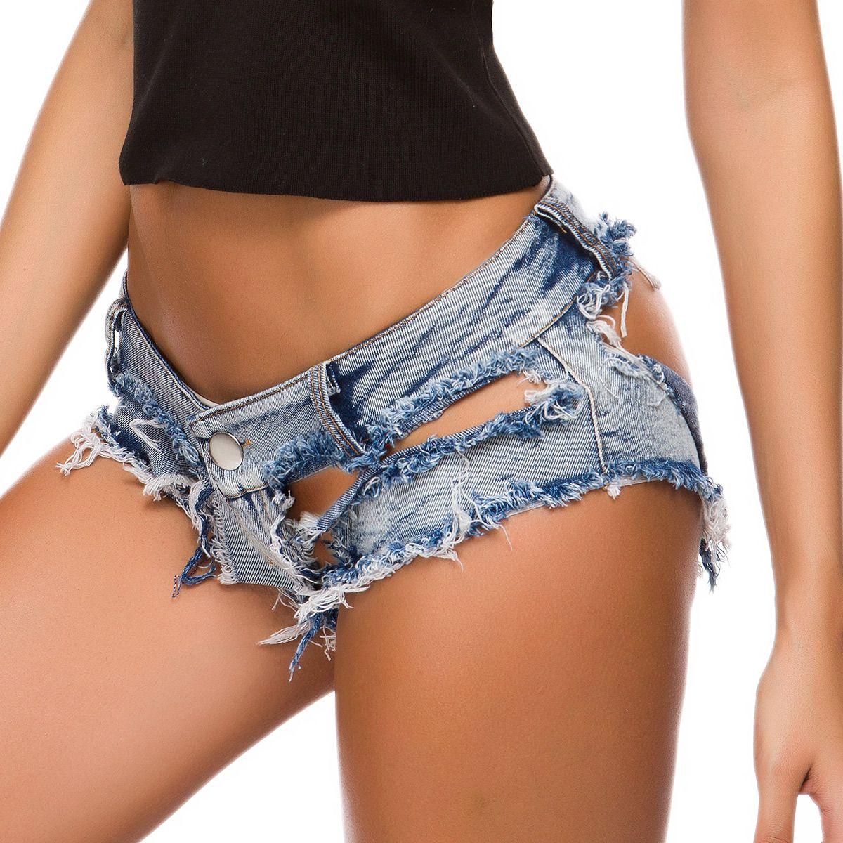 New Outono Mulheres Desenhador Denim Jeans Low Cintura Sexy Hole Night Club Calças Quentes Meninas Moda Slim Skinny Jeans Tamanho S-XL