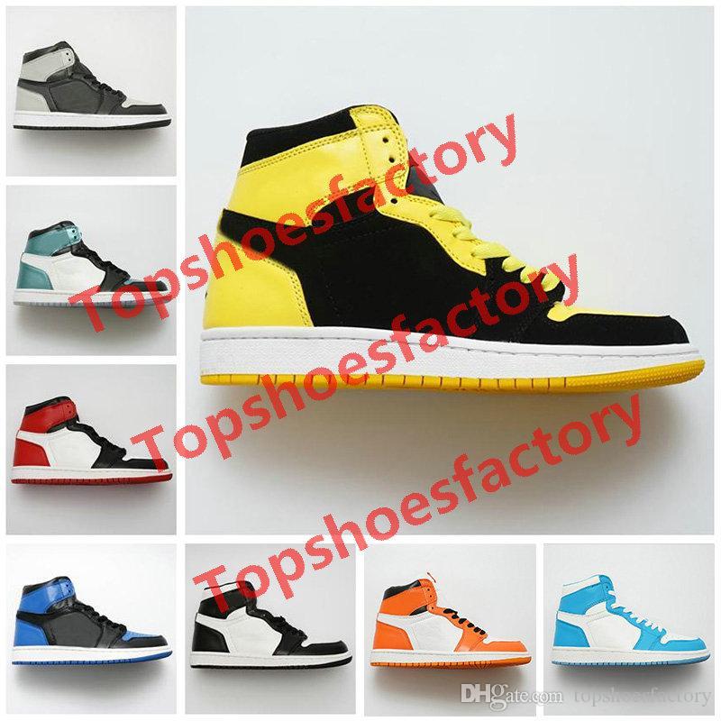 Nike air jordan 1 shoes Basketball Shoes Yüksek OG Basketbol Ayakkabı Ucuz Kraliyet Yasaklı Bred Siyah Beyaz Burun Erkekler Kadınlar İçin Satış Presto Ayakkabı