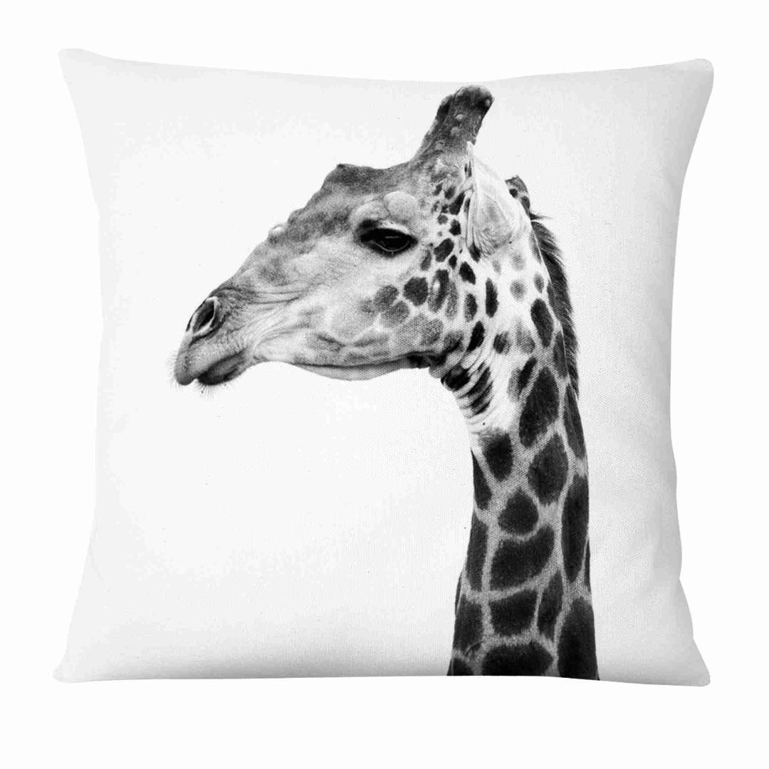 Retro Animal Film Printed Cushion Decorative Pillow Black And White Printing Linen Pillowcase Home Decor Sofa Throw Pillow 45 45 Heated Cushion For