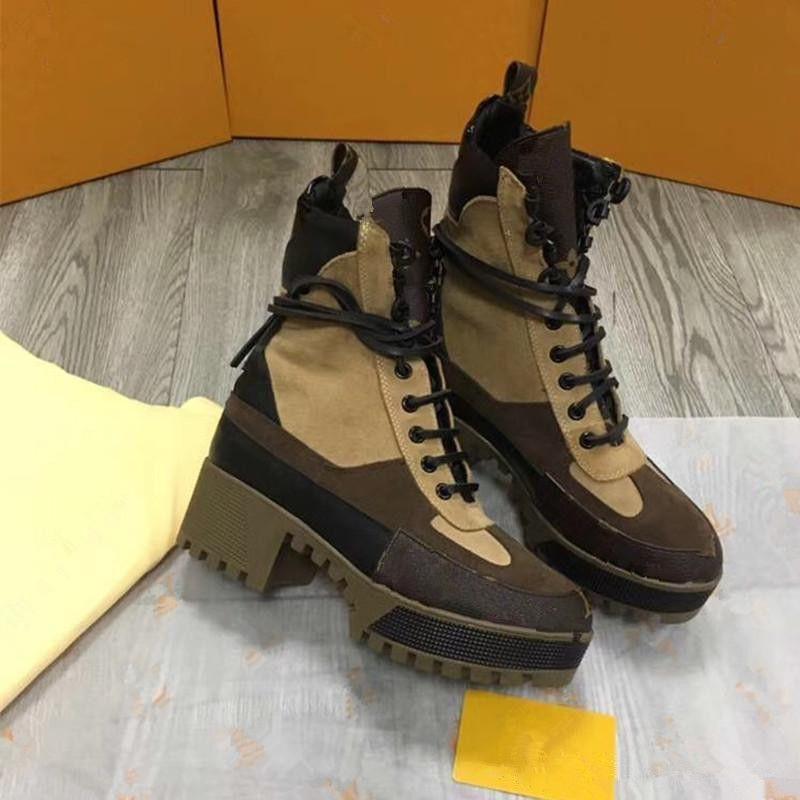 les femmes d'hiver semelles de cuir épais bottes courtes bottes Martin couche tête qualité cowhide femmes romaines bottes de chevalier chaussures cow-boy taille 42