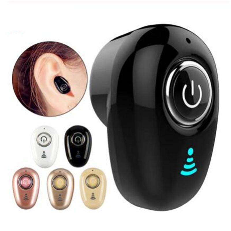 S650 Mini Bluetooth écouteurs sans fil intra-auriculaire invisible Auriculares Oreillettes casque mains libres stéréo avec micro pour tous les Smart Phone