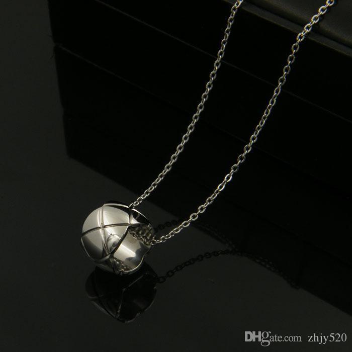 2020 arqueado cordón collar de cadena de amor cilindro pequeño para hombres de las mujeres de la joyería de plata chapado en oro rosa cadena larga para hombre collar de la joyería