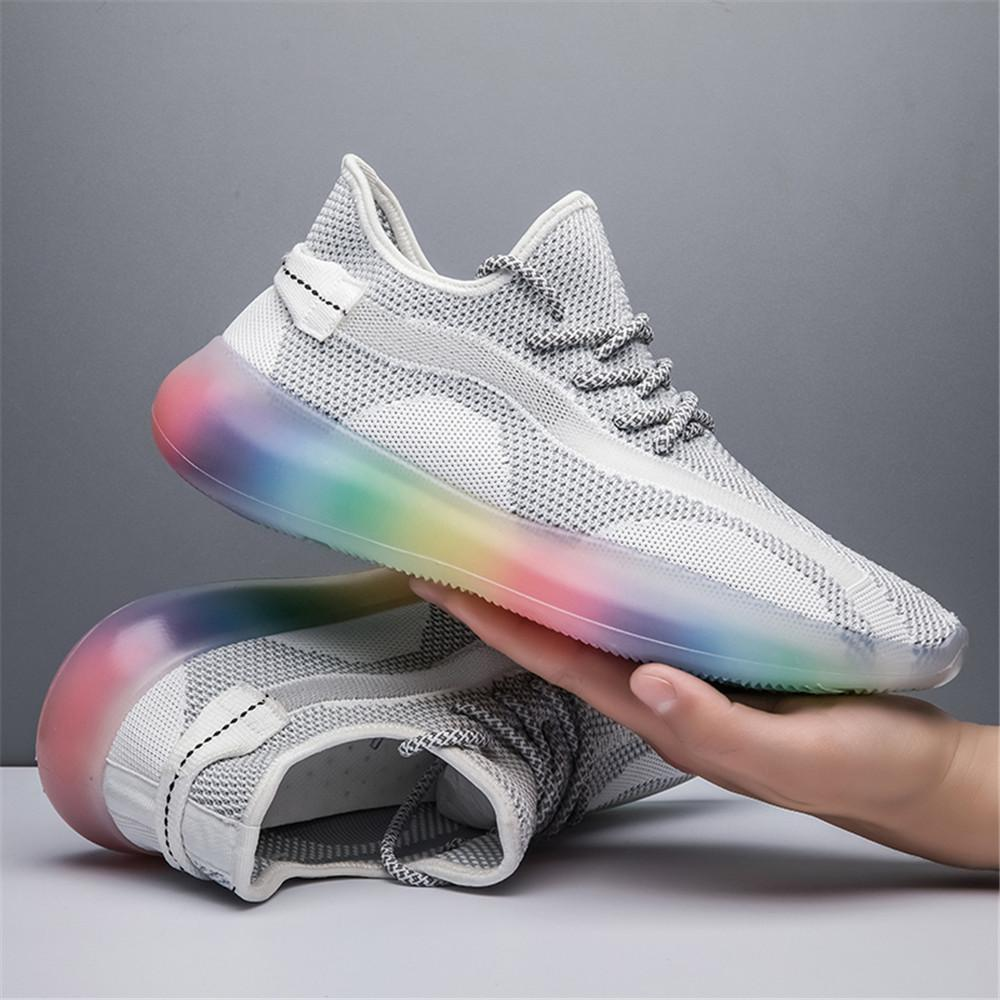 Fly Tissé Chaussures de course 50% robuste Mesh respirant Sneakers Ado Slip-on Chaussures Hommes Mode Outdoor Summer Homme Chaussures Sport