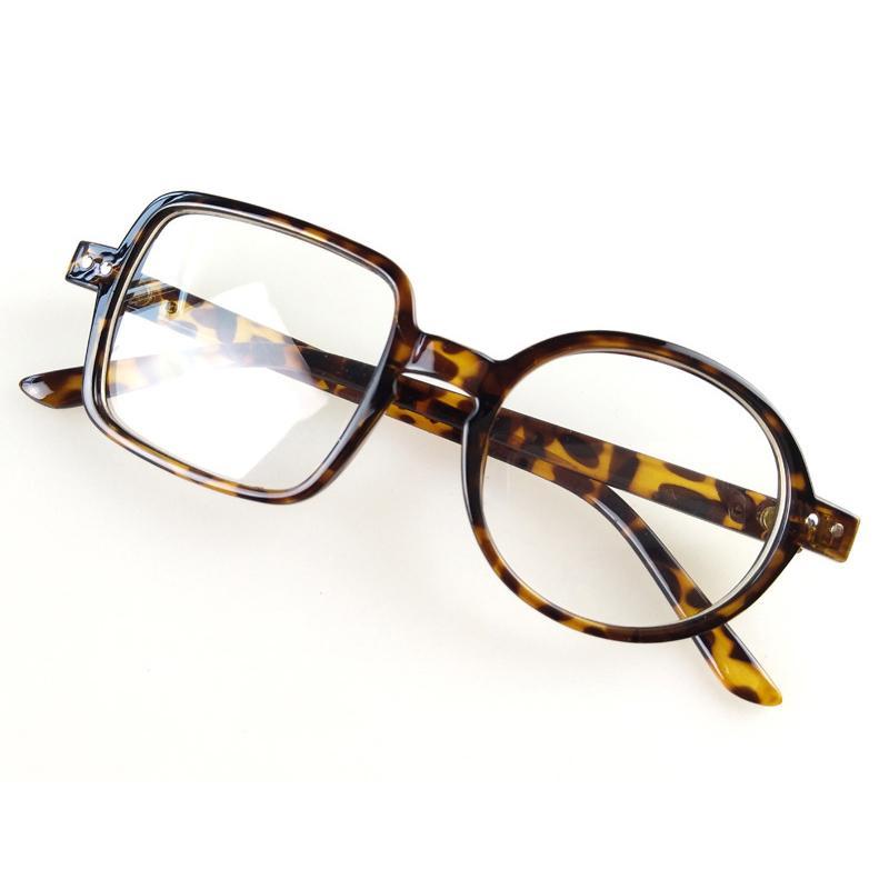 Gauche Place Right Round Transparent Lunettes de mode style personnel verre clair lunettes optiques montures de lunettes de prescription D5