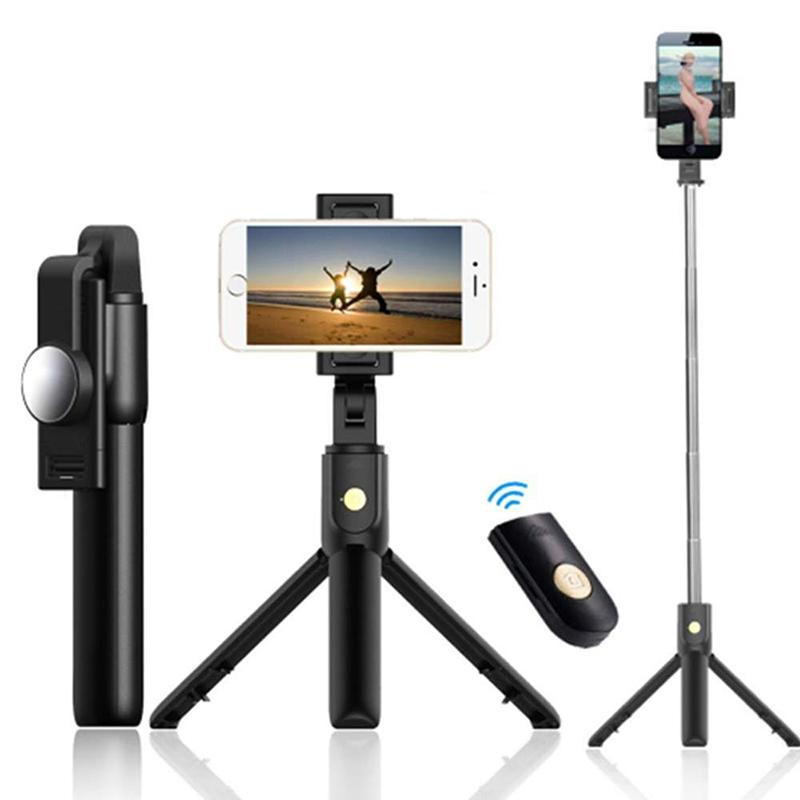 3-in-1 Wireless-Bluetooth-Selfie-Stick, Mini-Stativ Ausziehbare Einbeinstativ Universal Für iPhone 11pro max-XR-X 7 Plus, Samsung huawei
