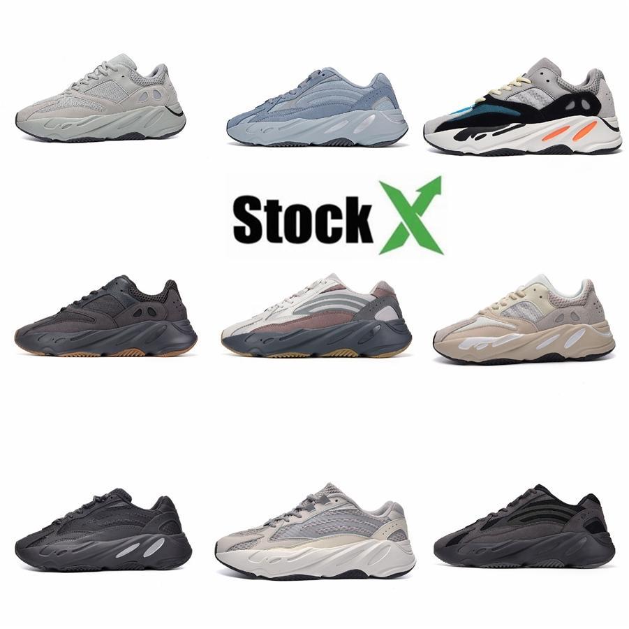 2020 700 mejores zapatos casuales corredor de la onda Og sólido Diseñador Gris Hombres Mujeres 700 V2 Geode estático malva Kanye West Sport zapatillas de deporte 36-46 # QA680