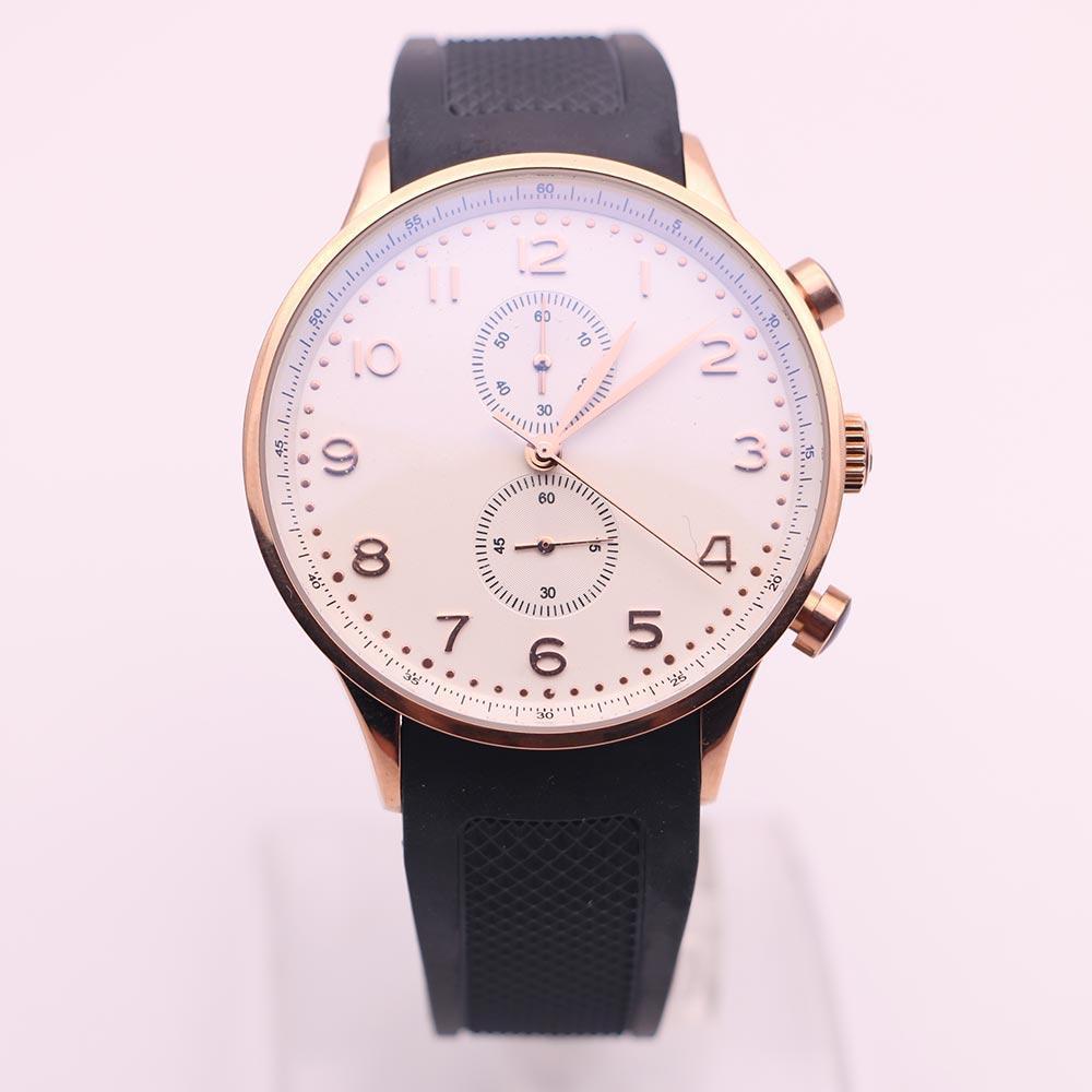 часы мужские золотые маркеры черный каучуковый ремешок часы хронограф кварцевый 371482 золотые часы мужские часы платье