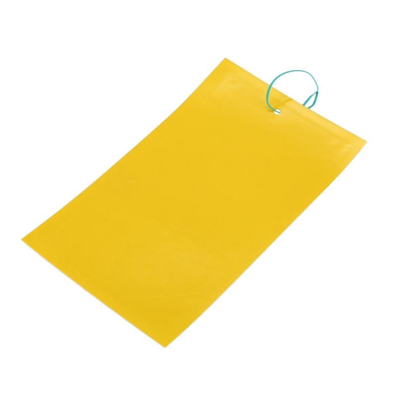 10x Yellow Sticky Glue Flying Pest Insect Papers Traps Catchers Bug Size:25x15cm