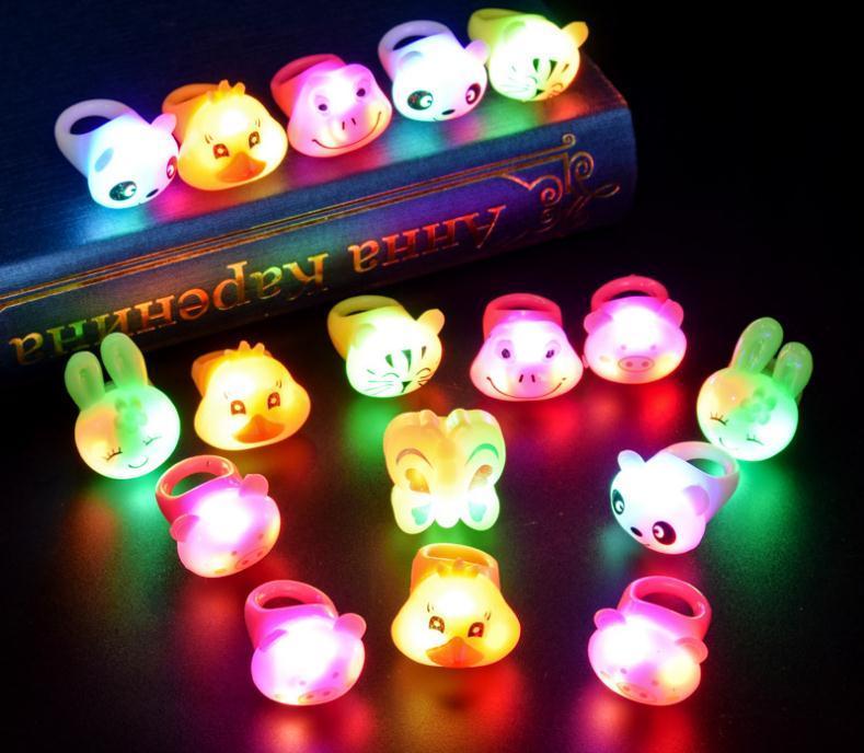 Halloween Novelty Luminous Rings LED Flash Finger Cartoon Light Toys for Kids uk