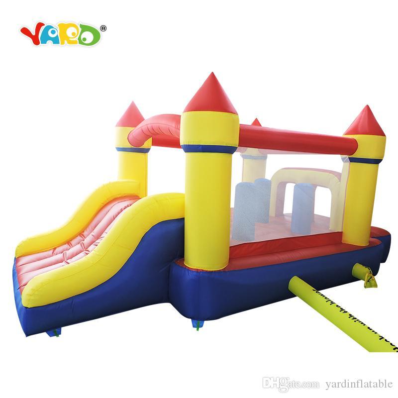 Blower ile YARD Evde Kullanım Kucakları Şişme Bounce Evi Şişme Castle Atlama Slayt