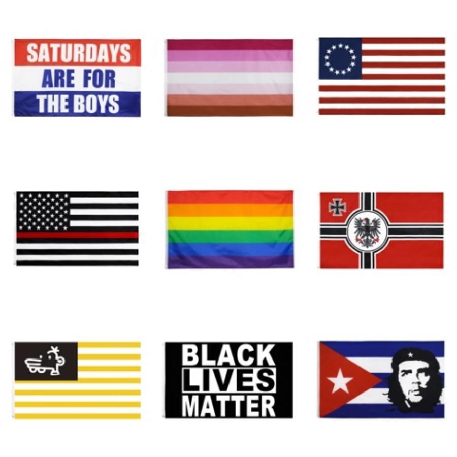 3 * 5ft 90 * 150cm de la bandera del arco iris del ventilador Banderas Banderas Banderas poliéster Polyester bandera de colores para la decoración 33 Diseño Bandera Gay HH9-2530 # 540