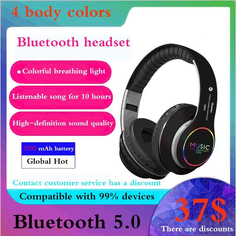 2019 new hot music earpiece Bluetooth headphones 5.0 HiFi sound quality street wireless headphone 3D surround stereo gaming headset earphone