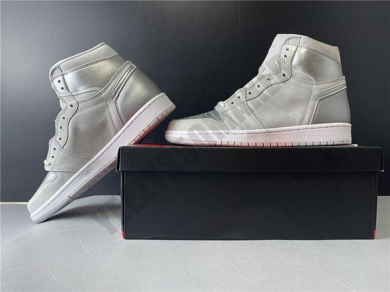 2019 1 1s Japão Basketball patente couro sapatos superior Designer New Mens Moda Formadores Sports Sneakers DC1788-029 Tamanho 40,5-46