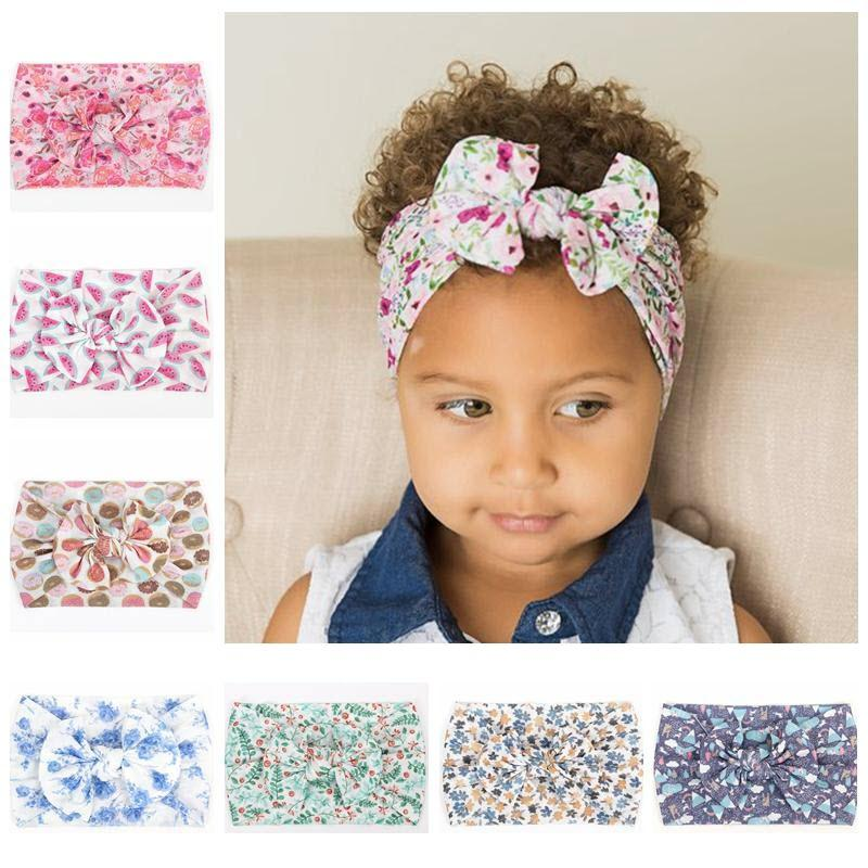 Flowers Bow knot Nylon Hair Clip Alligator Clips Head Wraps Baby Headband