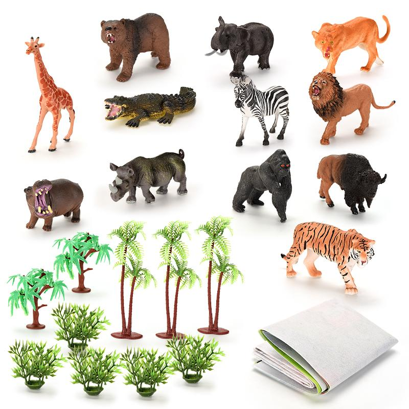 TW2004026 Animal suit Plastic box Window Color Box Funny Educational Toy Promotional Gift simulation figurine toy