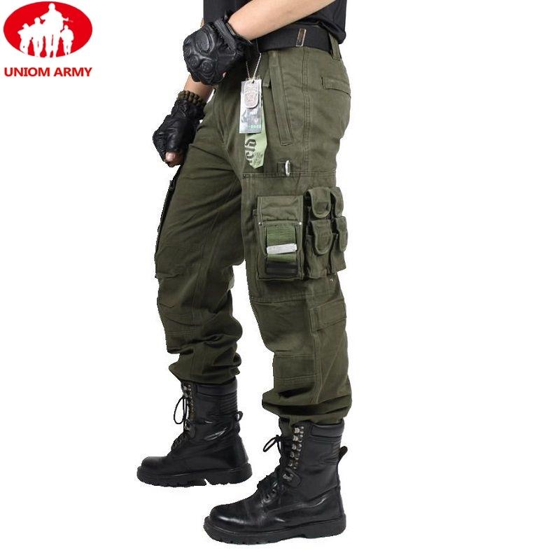 CARGO PANTS Overalls Male Mens Army Clothing TACTICAL PANTS MILITARY Work Wear Many Pocket Combat Army Style Straight Trousers Y200115