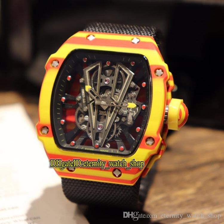 Best Edition Rm 27 03 Rafael Nadal Ntpt Red Yellow Carbon Fiber Case Skeleton Dial Miyota Automatic Rm27 03 Mens Watch Nylon Sport Watches Discount Designer Watches Watch Discount From Eternity Watch Shop 41 46 Dhgate Com