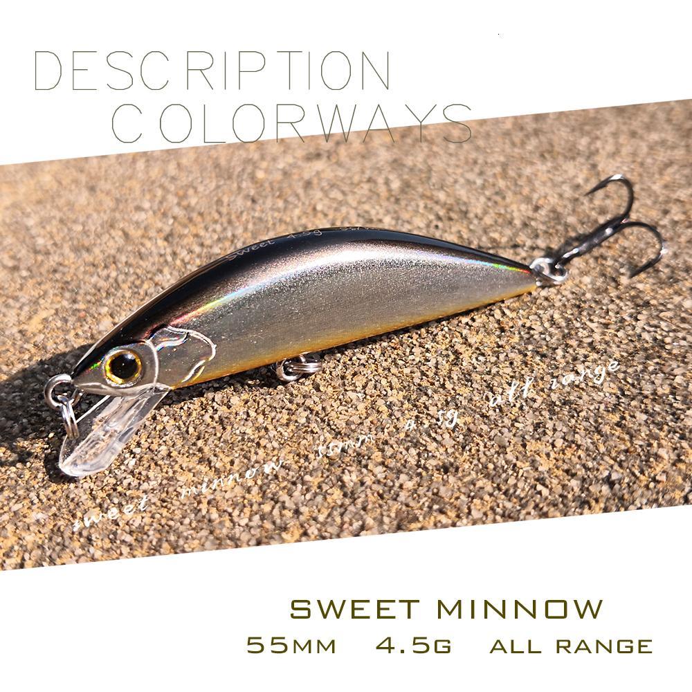 Thetime BRAND Sweet55 маленьких джерковое гольян приманка 55mm / 4.5g тонет мини искусственной рыбалки приманки для форели окуня T191017
