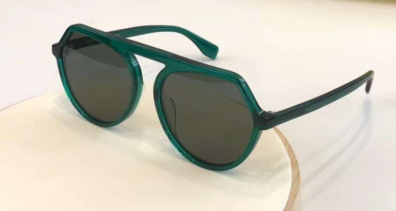 Box Sun Round Flat Sungalsses 0375 Зеленая рамка WTH Очки Дамы Топ Новые Солнцезащитные очки Мода Xgudr