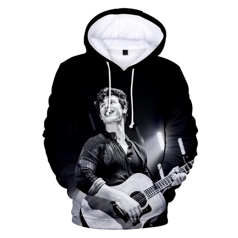 Shawn Mendes NOUVEAU Si je ne peux pas te 3D print sweat à capuche Hommes / Femmes Hip hop Casual Vêtements Sweats à capuche