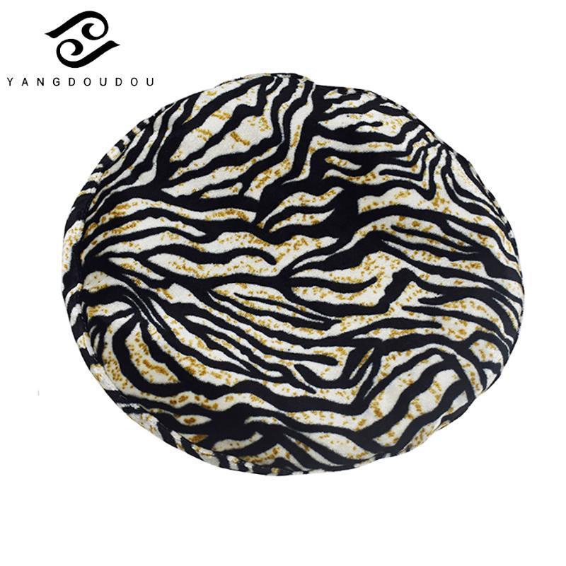 Yangdoudou Leopard Print Beret Hat Vintage Mulheres Painter Chapéus Outono Inverno Fashion Elegante Casual Mulheres Chapéus
