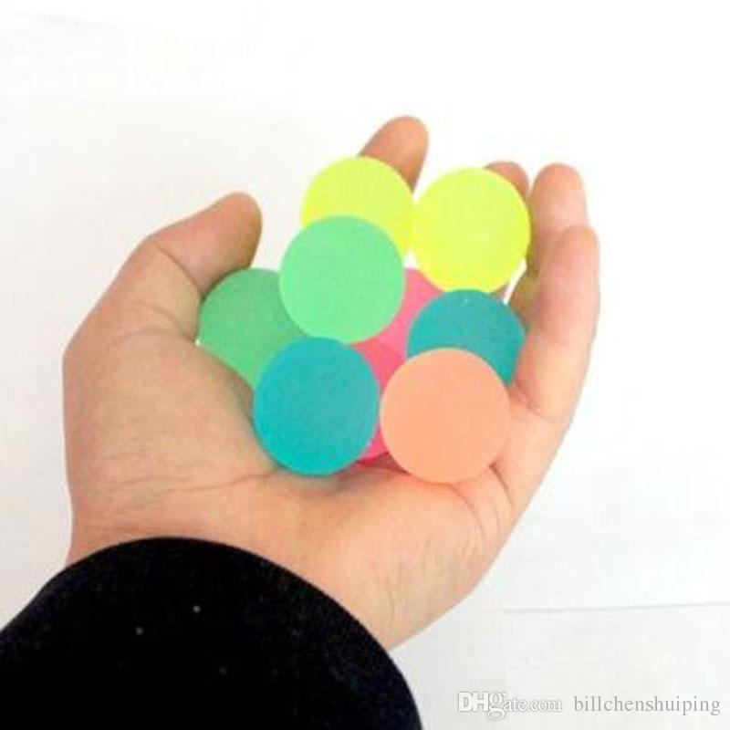 3.2 cm Bolas de goma luminosa Alivio suave Discomresión Juguete Juguete Juegos de deporte para niños Niños Muchacho